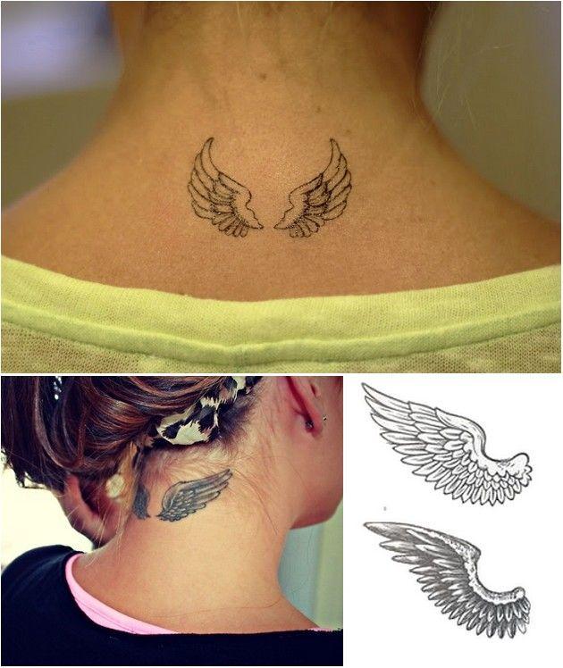 Tatoo ange nuque mod les et exemples - Tatouage ailes d ange ...