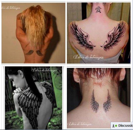 tatouage aile omoplate