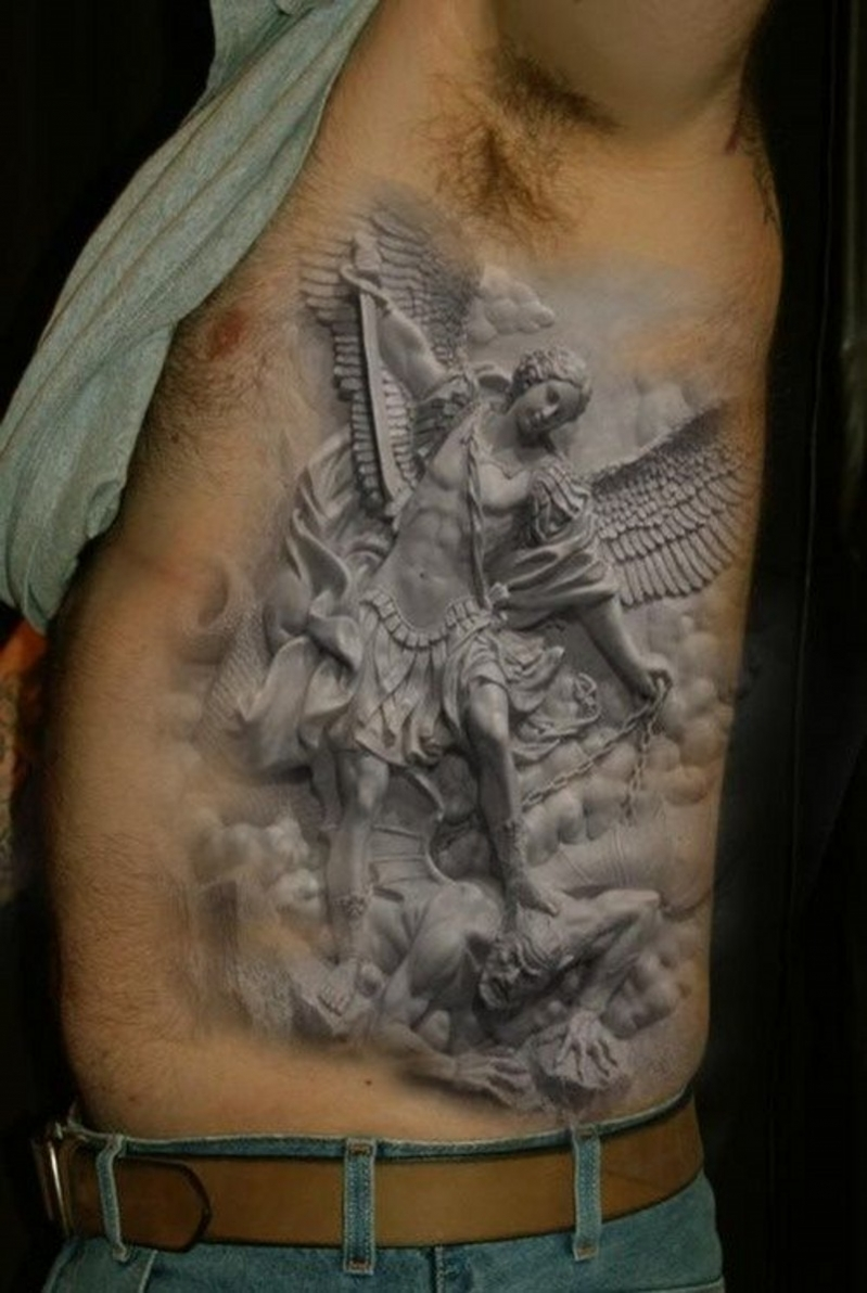 tatouage ange nuage