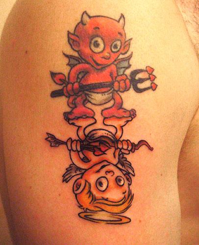 Tatouage ange ou démon - Modèles et Exemples
