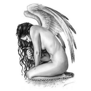 Tatouage Ange Triste Modeles Et Exemples