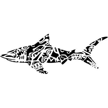 Tatouage animaux polyn sien mod les et exemples - Modele dessin requin ...