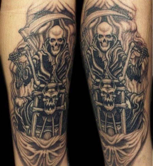 Tatouage avant bras biker - Modèles et Exemples