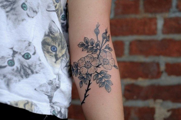 Tatouage avant bras fleur mod les et exemples - Tatouage fleur avant bras ...