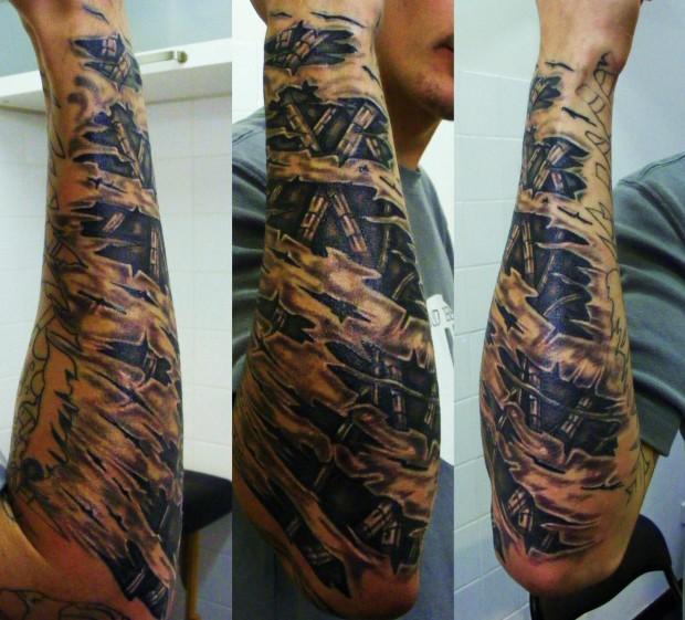 Tatouage avant bras homme biomecanique mod les et exemples - Modele tatouage avant bras ...