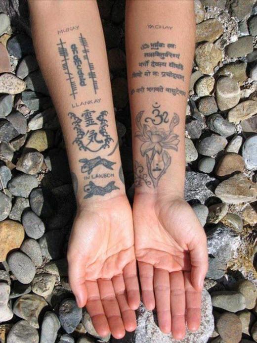 Tatouage Hindou Avant Bras Femme Tuer Auf