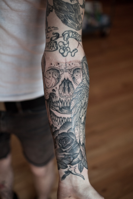 Tatouage avant bras intérieur homme
