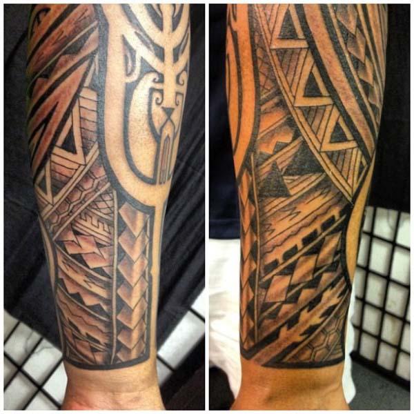 Tatouage avant bras marquisien
