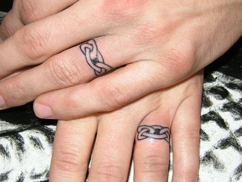Tatouage bague doigt homme