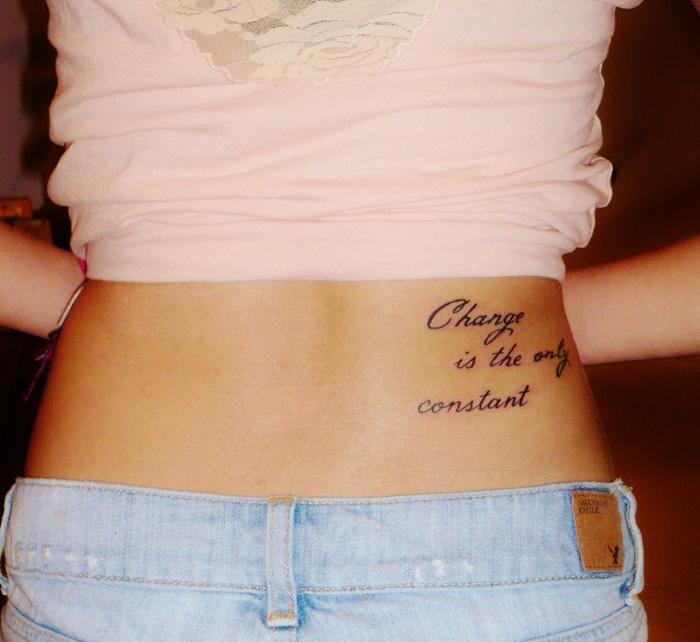 tatouage bas du dos discret