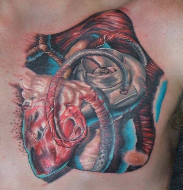 Tatouage biomecanique coeur mod les et exemples - Modele tatouage coeur ...