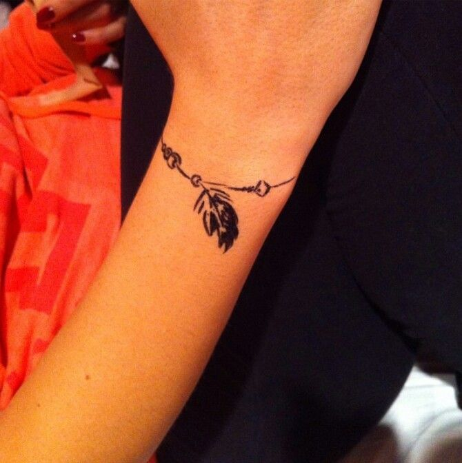 tatouage bracelet poignet noeud