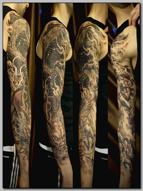Tatouage bras homme complet mod les et exemples - Tatouage homme bras complet ...