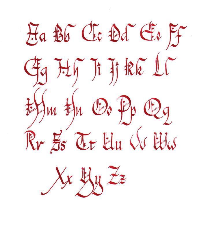Tatouage Calligraphie Gothique Mod 232 Les Et Exemples
