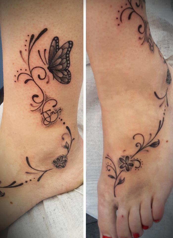 tatouage pied cheville great tatouage sur le pied et la cheville style polynsien marquises with. Black Bedroom Furniture Sets. Home Design Ideas