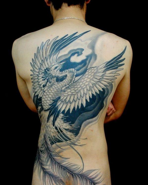 Tatouage Homme Dos Aigle