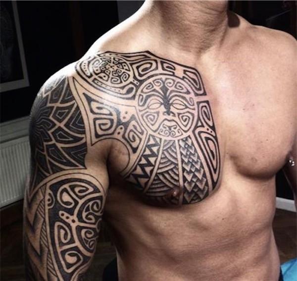 Tatouage paule bras pectoraux mod les et exemples - Tatouage epaule bras ...