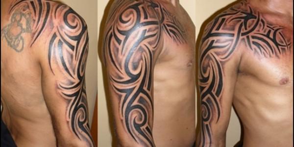 tatouage paule tribal homme mod les et exemples. Black Bedroom Furniture Sets. Home Design Ideas