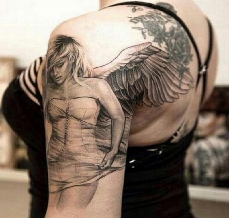 Tatouage Femme Un Ange Modeles Et Exemples