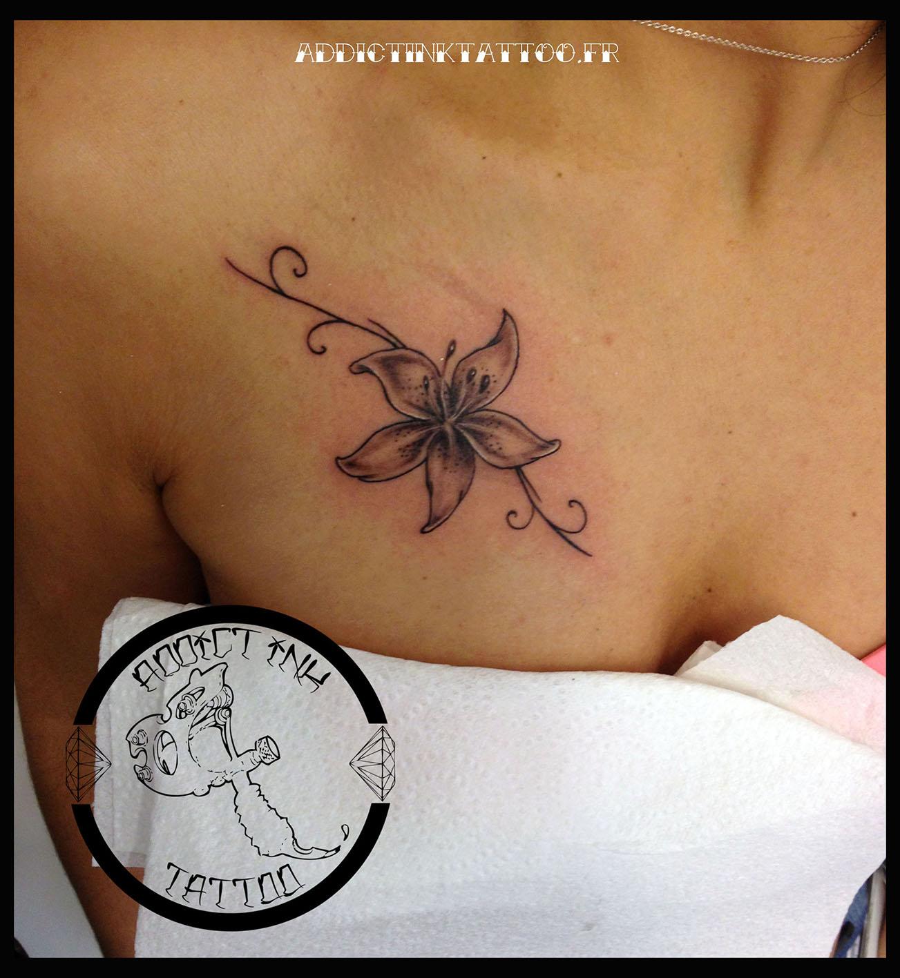 Tatouage Femme Papillon Poitrine Kolorisse Developpement