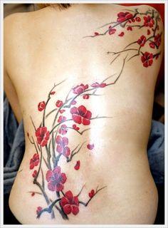 tatouage fleur asiatique mod les et exemples. Black Bedroom Furniture Sets. Home Design Ideas