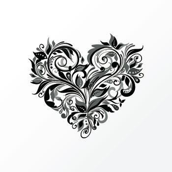 tatouage fleur et coeur mod les et exemples. Black Bedroom Furniture Sets. Home Design Ideas