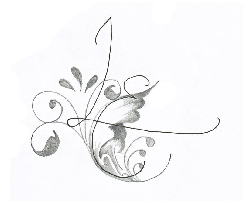 Tatouage fleur et lettre mod les et exemples - Fleurs a dessiner modele ...