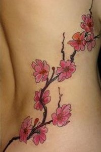 tatouage fleur iles mod les et exemples. Black Bedroom Furniture Sets. Home Design Ideas