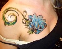 Tatouage Fleur Lotus Bleu Modeles Et Exemples