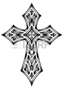 Tatouage gothique croix