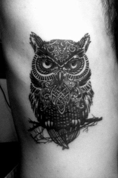 Tatouage hibou et chouette mod les et exemples - Signification hibou tatouage ...