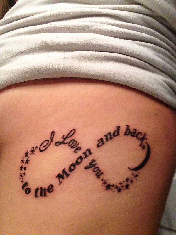 tatouage infini phrase