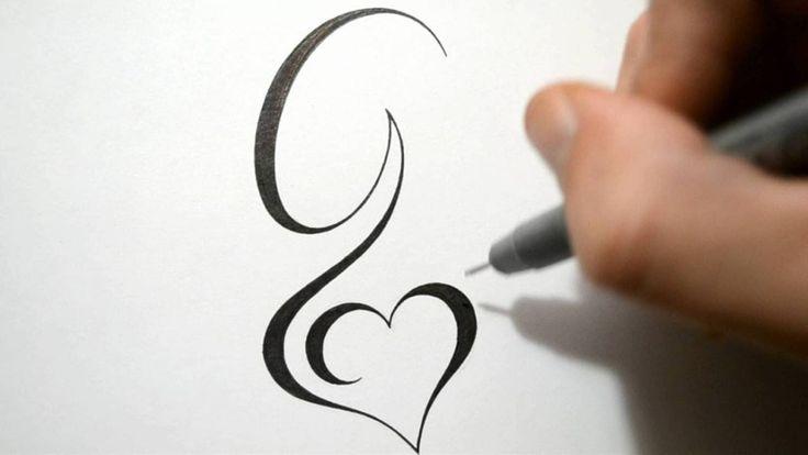 Tatouage initiale g mod les et exemples - Tatouage coeur avec initiale ...