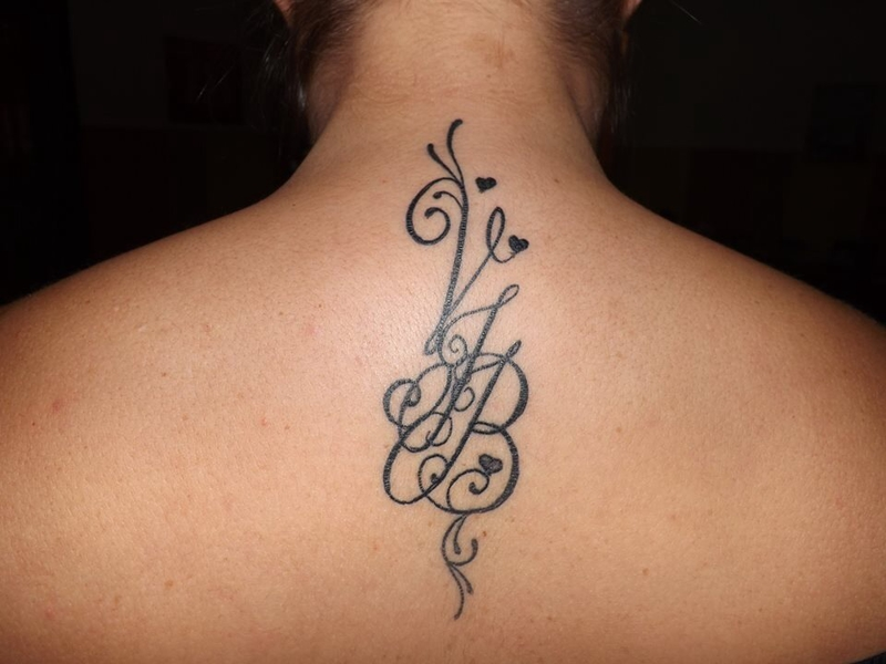 25 best Initial Tattoos ideas on Pinterest  Tattoo fonts