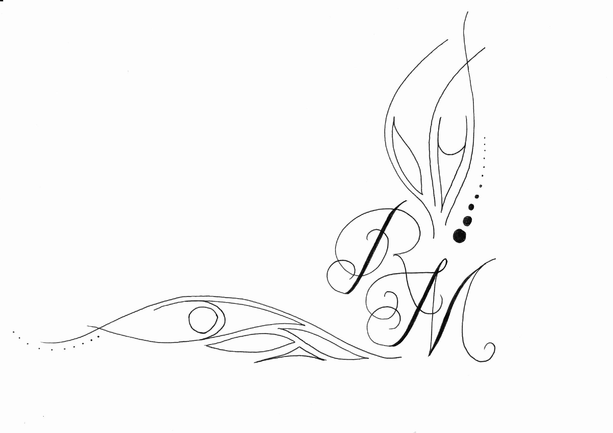 Tatouage initiale rm mod les et exemples - Modele d oiseaux a dessiner ...