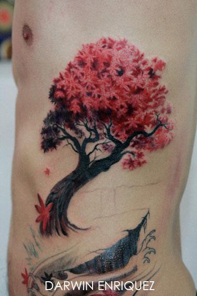 tatouage japonais arbre mod les et exemples. Black Bedroom Furniture Sets. Home Design Ideas