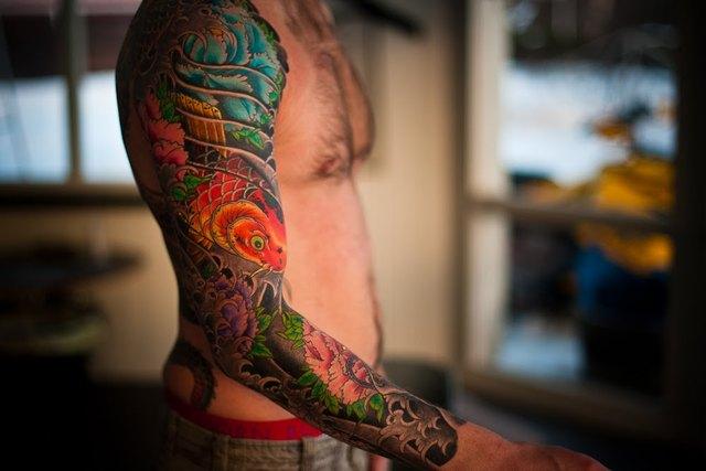 Tatouage japonais bras complet