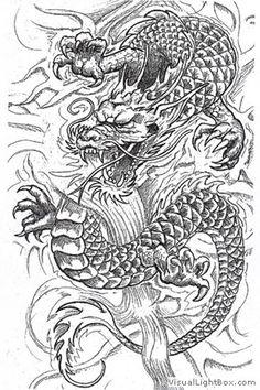 tatouage japonais dragon