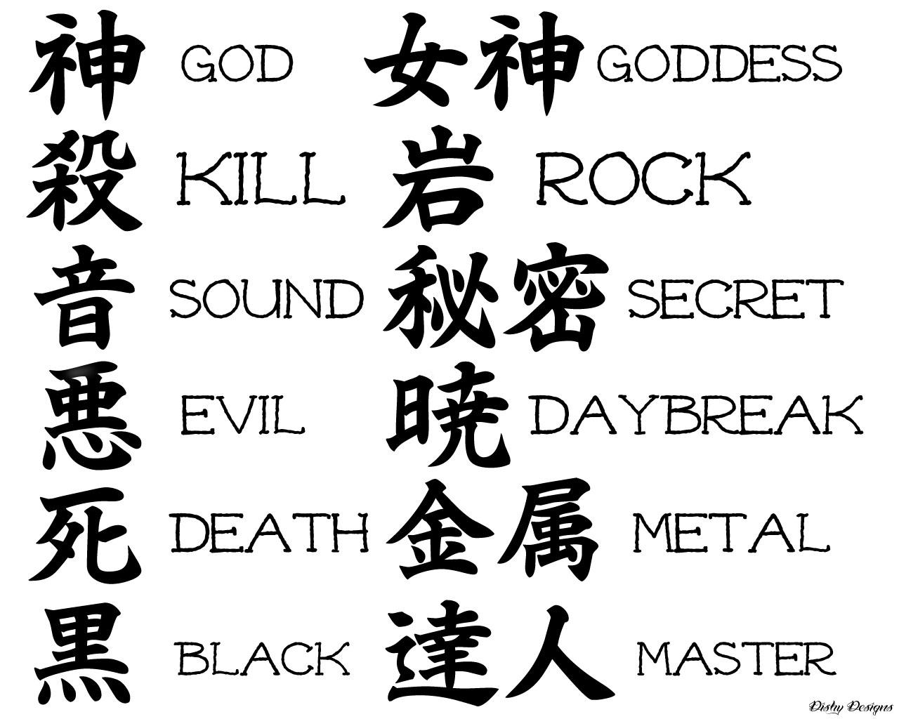 Ecriture Japonaise Tatouage Tuer Auf
