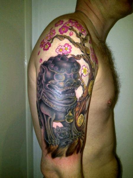tatouage japonais épaule