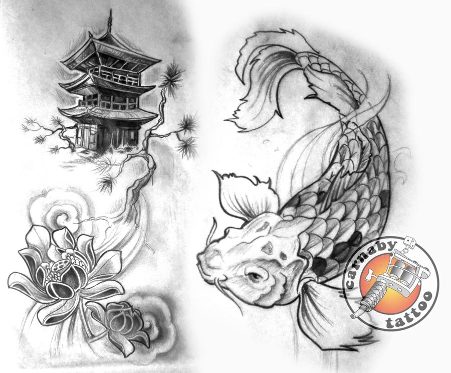 Dessin Tatoo Japonais tatouage japonais motif - modèles et exemples