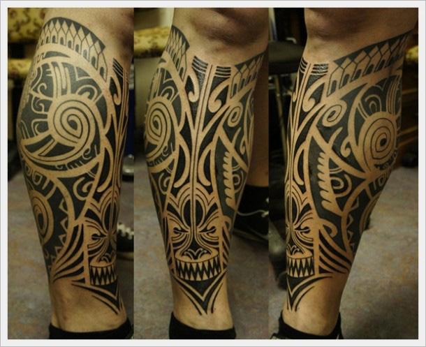 Tatouage Polynesien Mollet Tatouage Polynesien Cuisse Homme Lgant