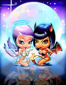 Tatouage ni ange ni d mon mod les et exemples - Dessiner un diable ...