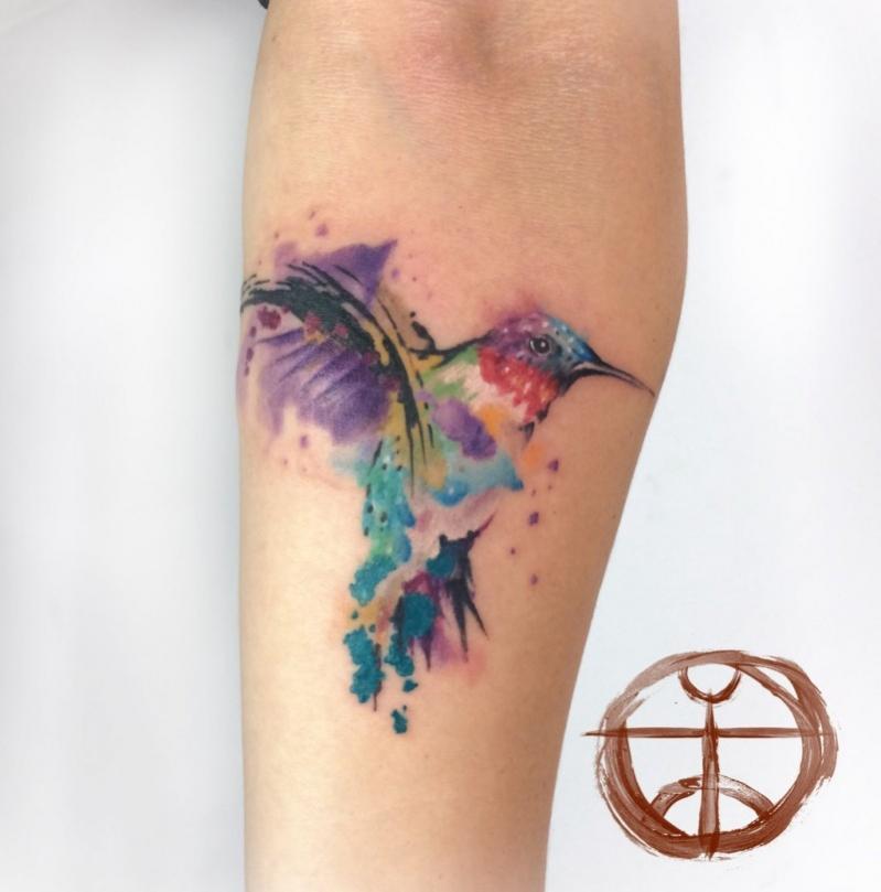 Tatouage oiseau en couleur mod les et exemples for Oiseau couleur