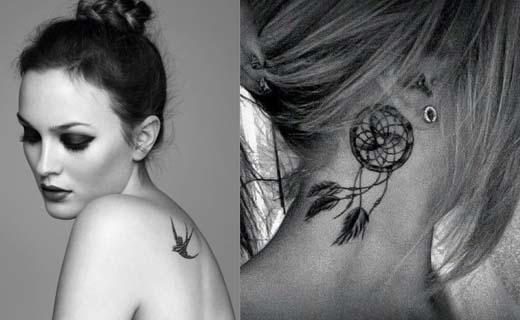 tatouage oiseau fin