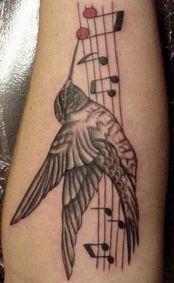 tatouage oiseau note de musique mod les et exemples. Black Bedroom Furniture Sets. Home Design Ideas