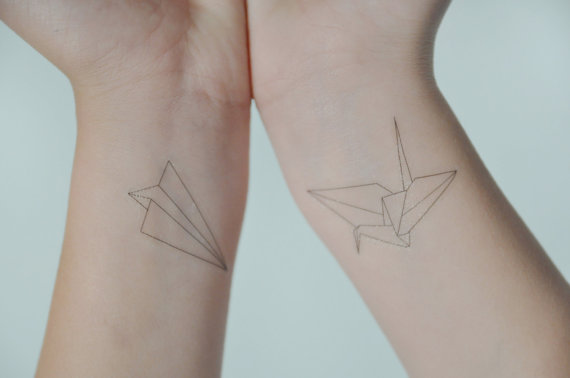 Tatouage Oiseau Origami Modeles Et Exemples