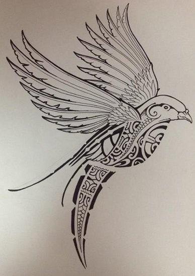 tatouage oiseau polyn sien mod les et exemples. Black Bedroom Furniture Sets. Home Design Ideas