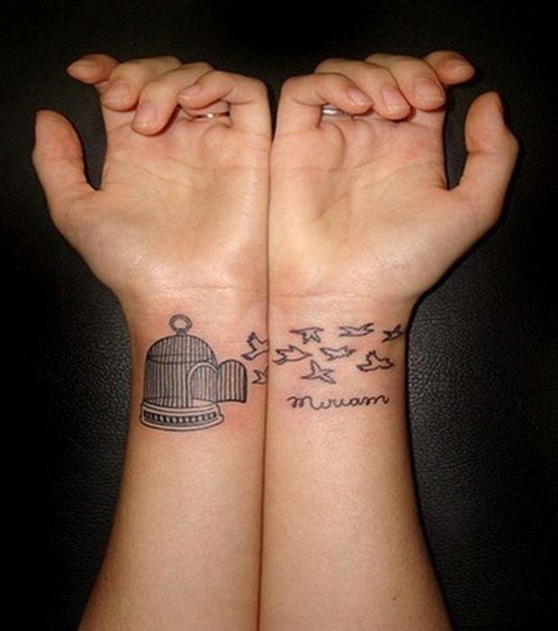 tatouage oiseau sur le poignet mod les et exemples. Black Bedroom Furniture Sets. Home Design Ideas