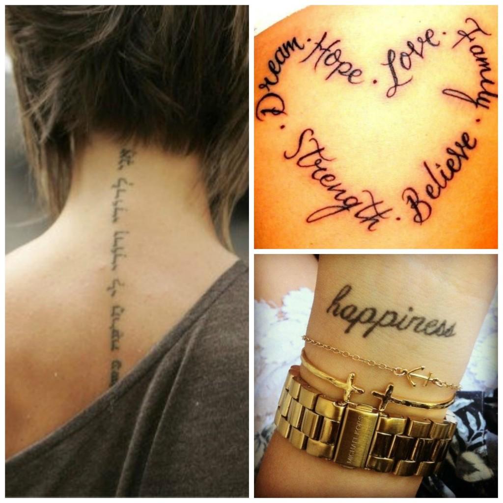 tatouage phrase anglais poignet